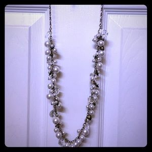 Chloe + Isabel Pearl + Crystal Drops Necklace